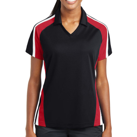 Sport-Tek Ladies Tricolor Micropique Sport-Wick Polo (Apparel)