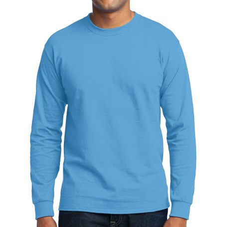 Port & Company - Long Sleeve 50/50 Cotton/Poly T-Shirt (Apparel)