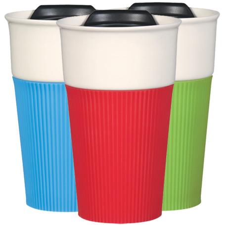 Personalized 13 Oz. Ceramic Mug with Silicone Sleeve