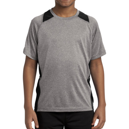 Sport-Tek Youth Heather Colorblock Contender Tee (Apparel)