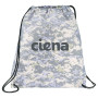 Monogrammed Camo Oriole Drawstring Cinch Backpack