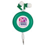 Monogrammed Retro Retractable Ear Buds
