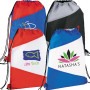 Promo Pennant Drawstring Cinch Backpack