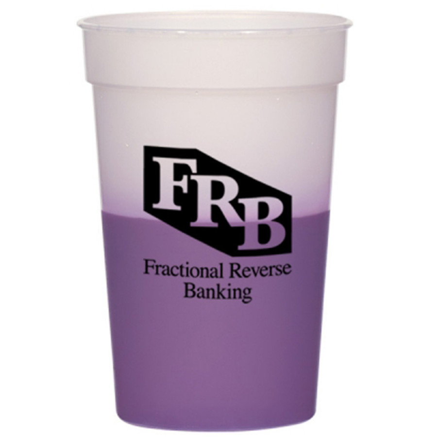 Logo 16 oz Color Changing Stadium Cup