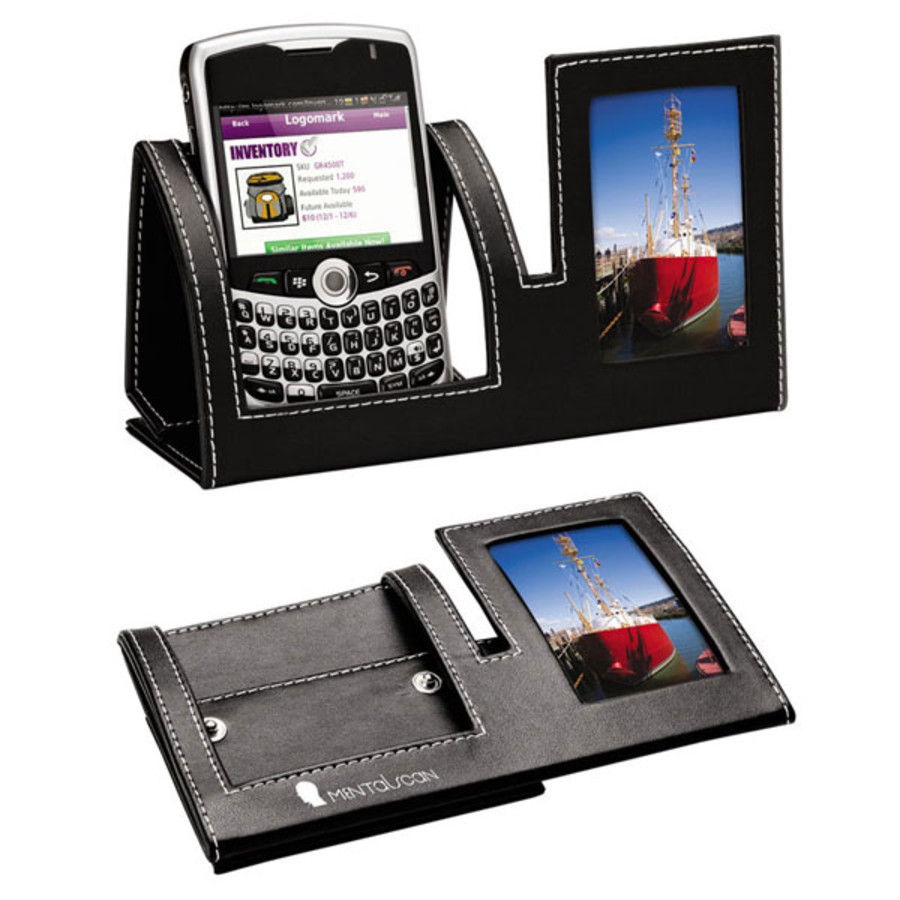 Imprinted Mobile Phone Holder w/Photo Frame