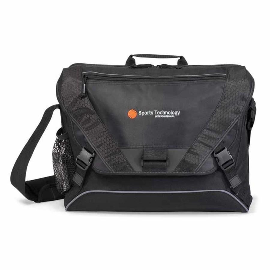 Monogrammed Vertex Computer Messenger Bag II