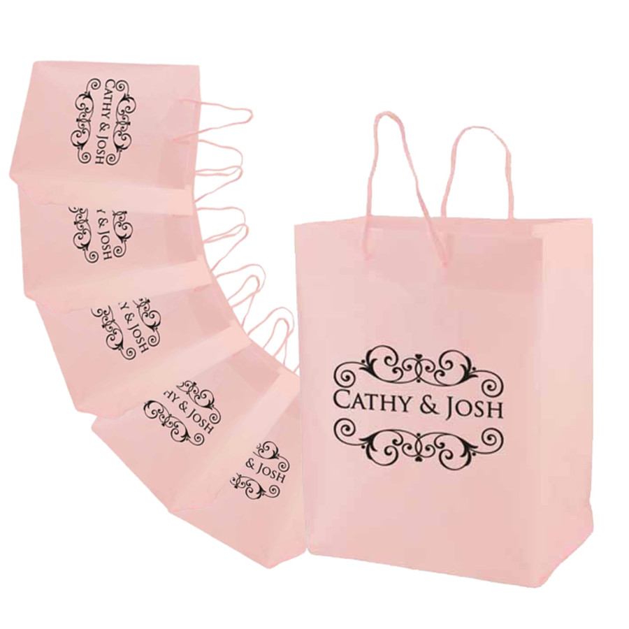Monogrammed Frosted Eurotote Bags
