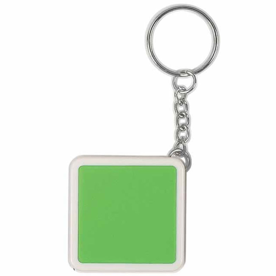 Custom Printed Square Tape Measure Key Tag