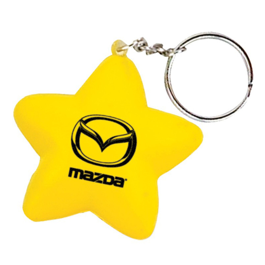 Custom Star Stress Reliever Key Chain