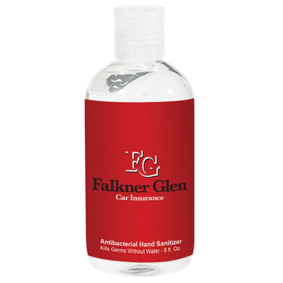 Customizable 8 Oz. Hand Sanitizer Bottle