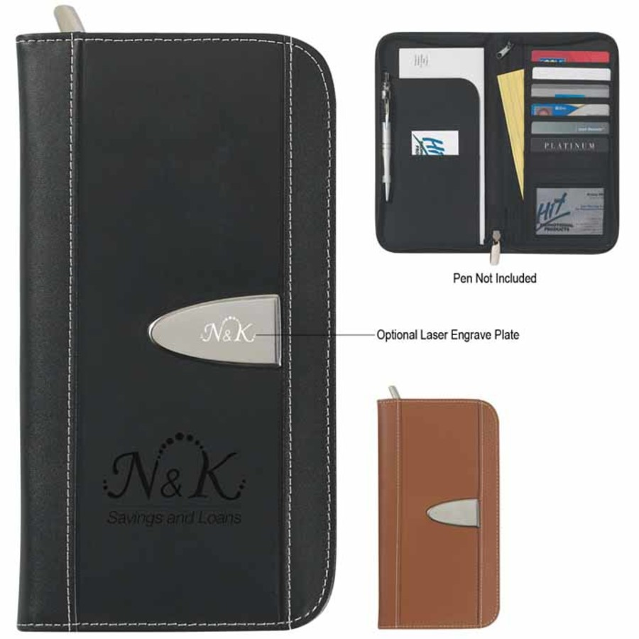 Customizable Eclipse Bonded Leather Travel Wallet
