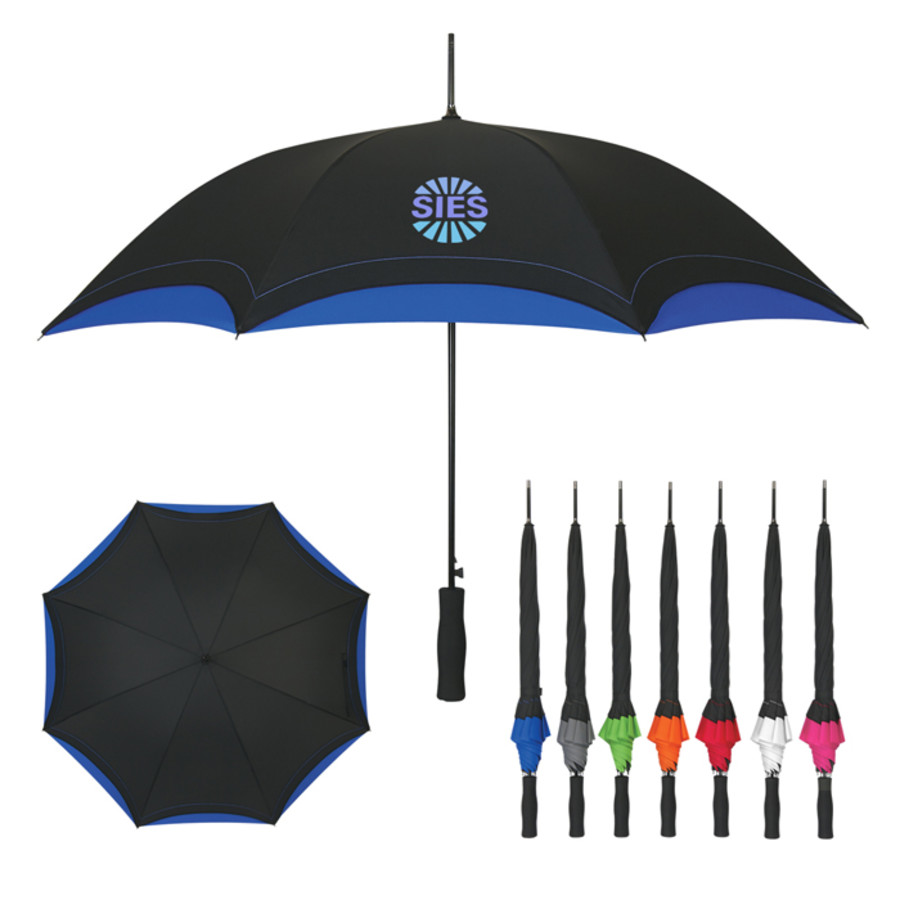 "Monogrammed 46"" Arc Umbrella"