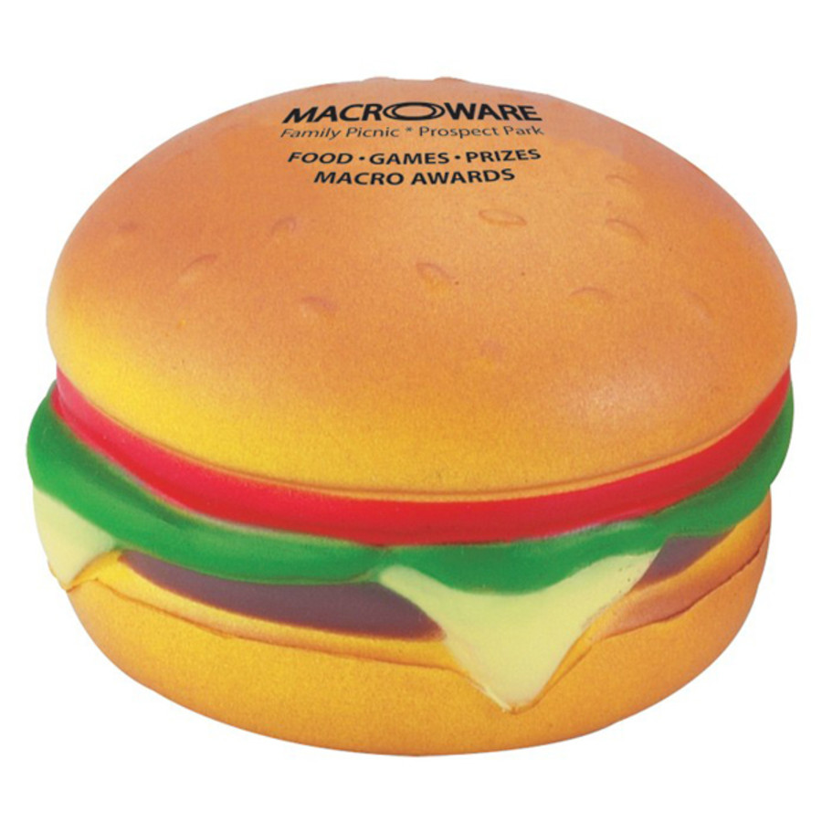 Imprintable Hamburger Stress Reliever