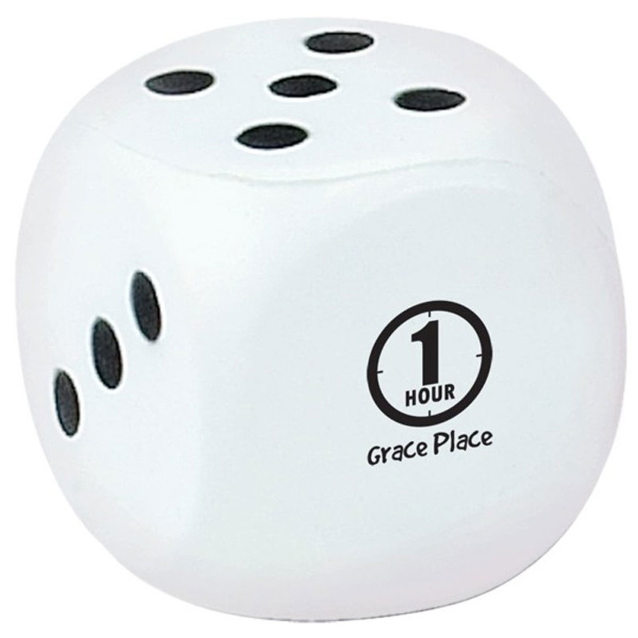 Imprinted Dice Stress Reliever