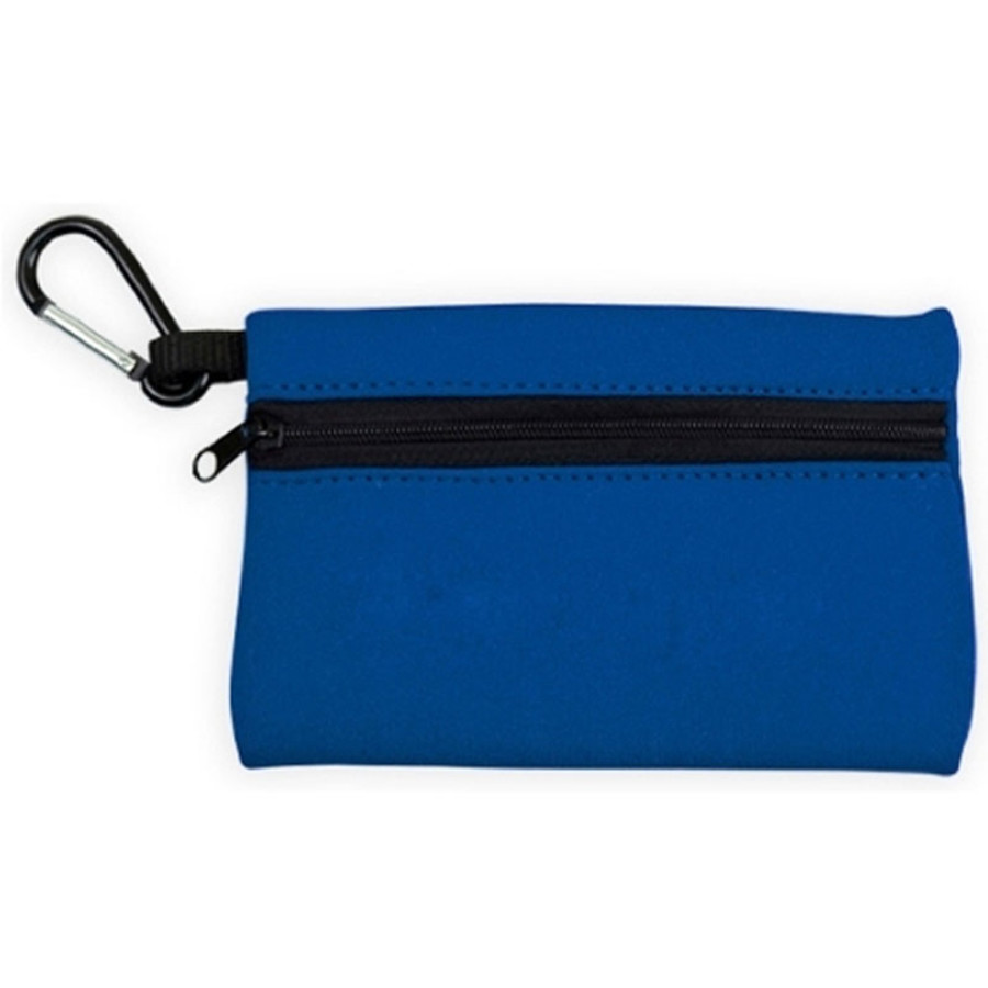 Imprinted Neoprene Zipper Tote with Carabiner