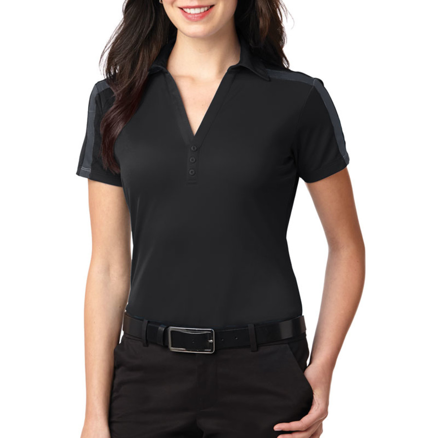 Port Authority Ladies Silk Touch Performance Colorblock Stripe Polo (Apparel)