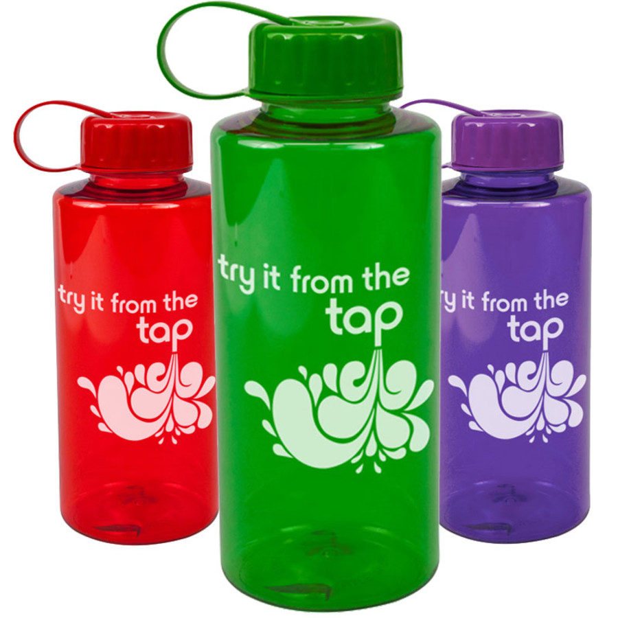Logo 36 oz. Poly-Pure Mountain BPA Free Bottle