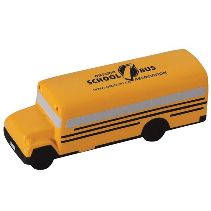 Logo Printed School Bus Stress Reliever