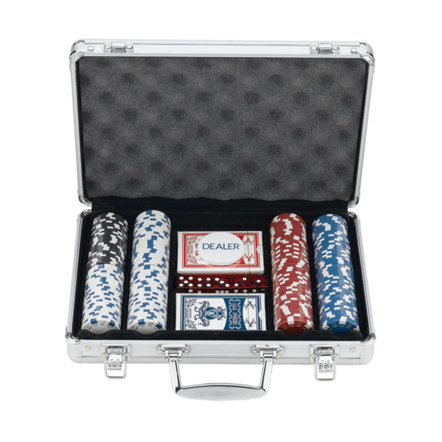 200 Chips Poker Set In Aluminum Case