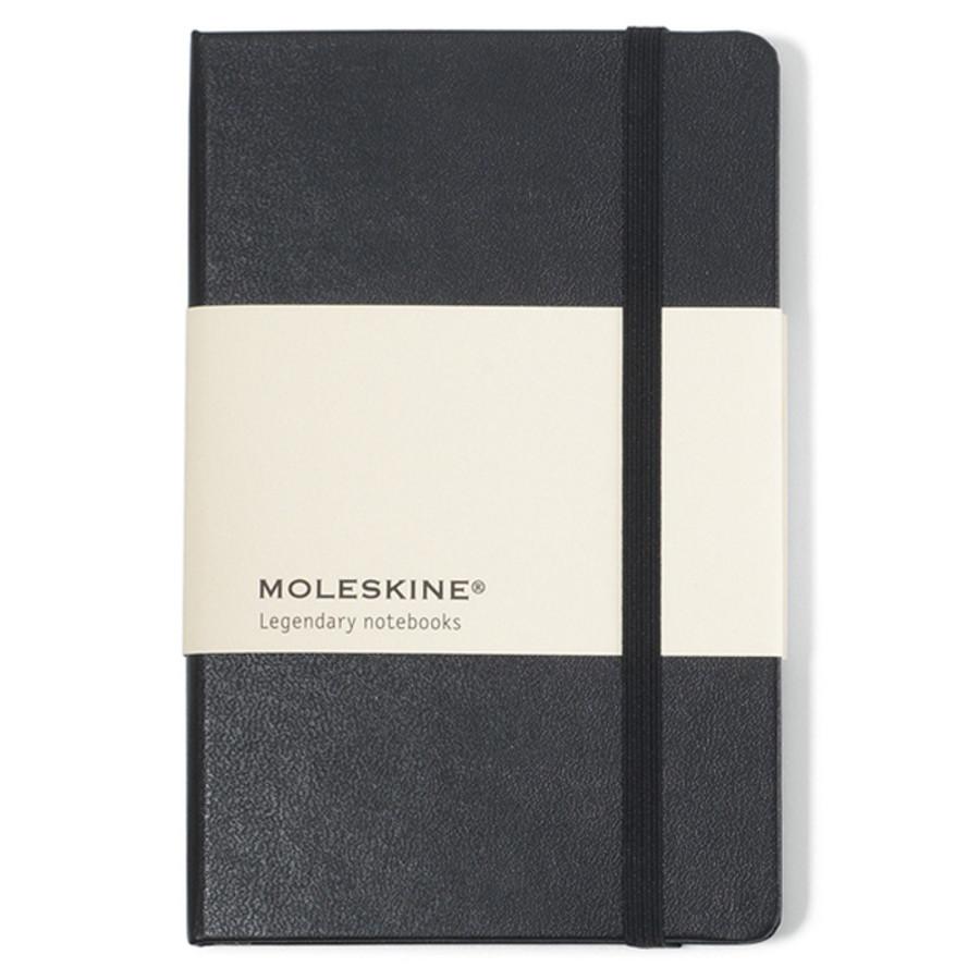 Moleskine Imprinted Hard Cover Plain Pocket Notebook