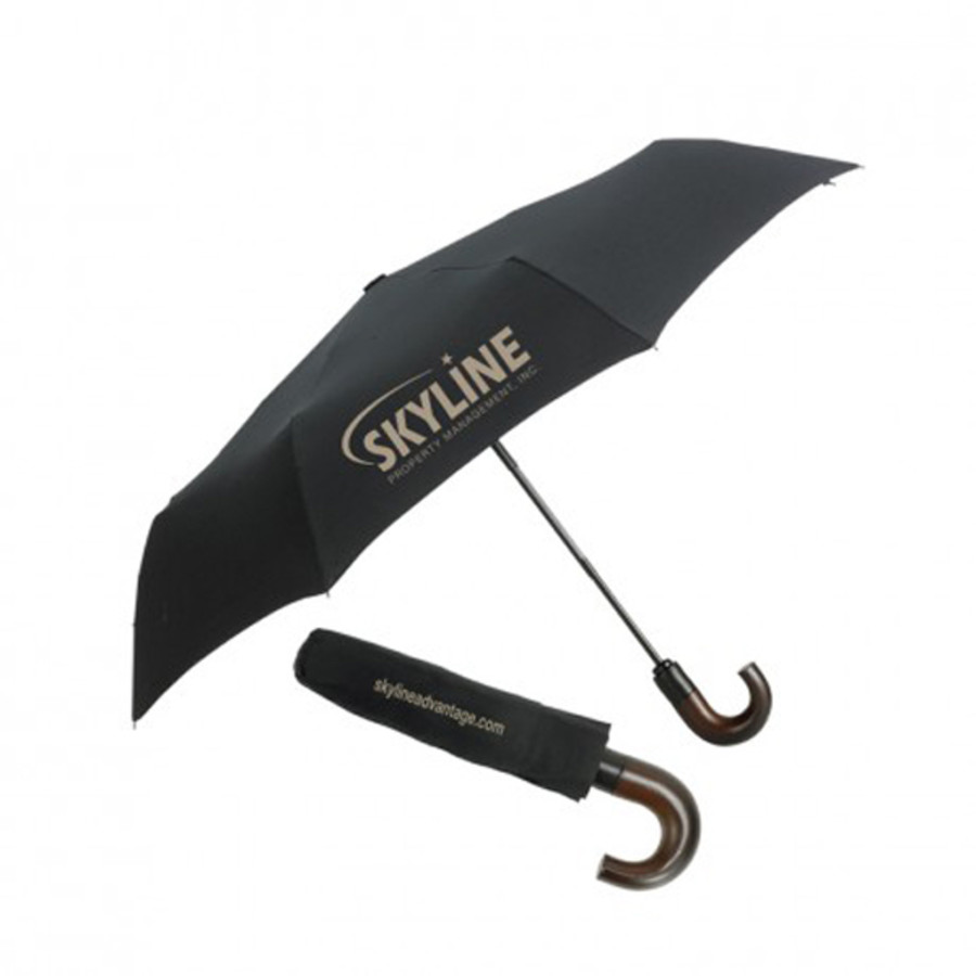 "Monogrammed Crew 43"" Arc Mini Fold Umbrella"