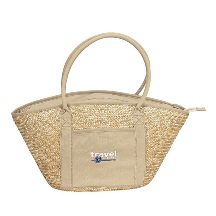 Monogrammed Structured Eco Tote
