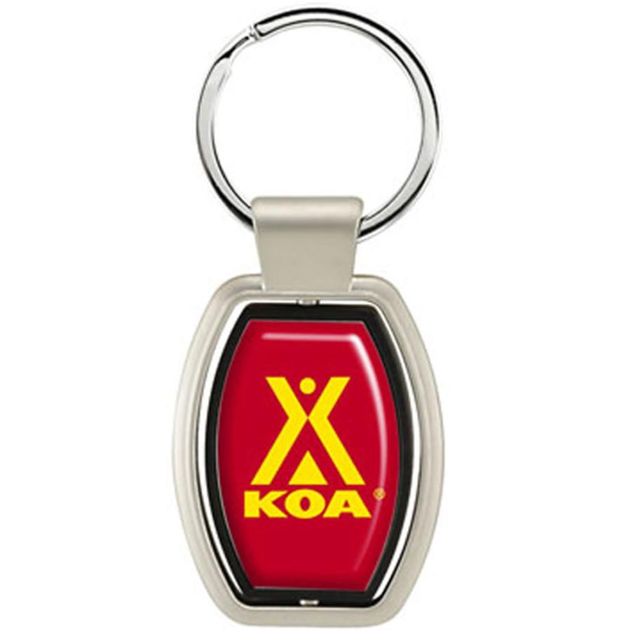 Monogrammed Swivel Keychain