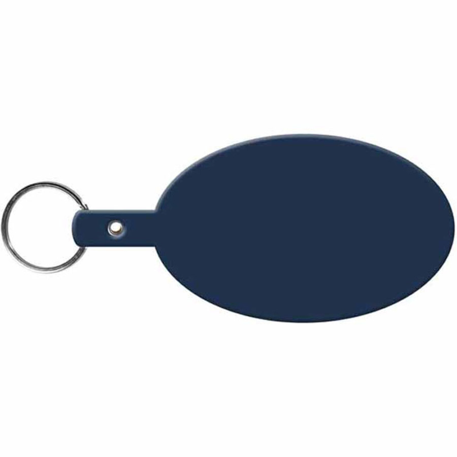 Personalized Large Oval Flexible Key-Tag