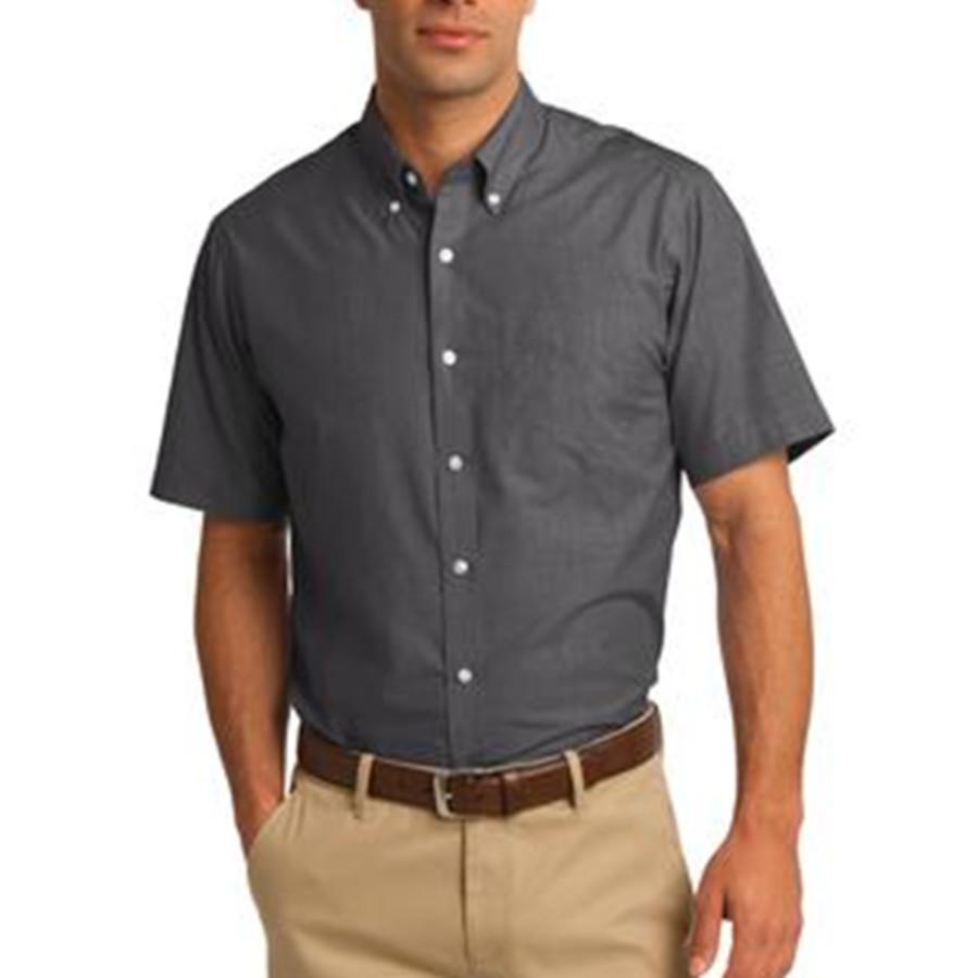 Port Authority Short Sleeve Crosshatch Easy Care Shirt
