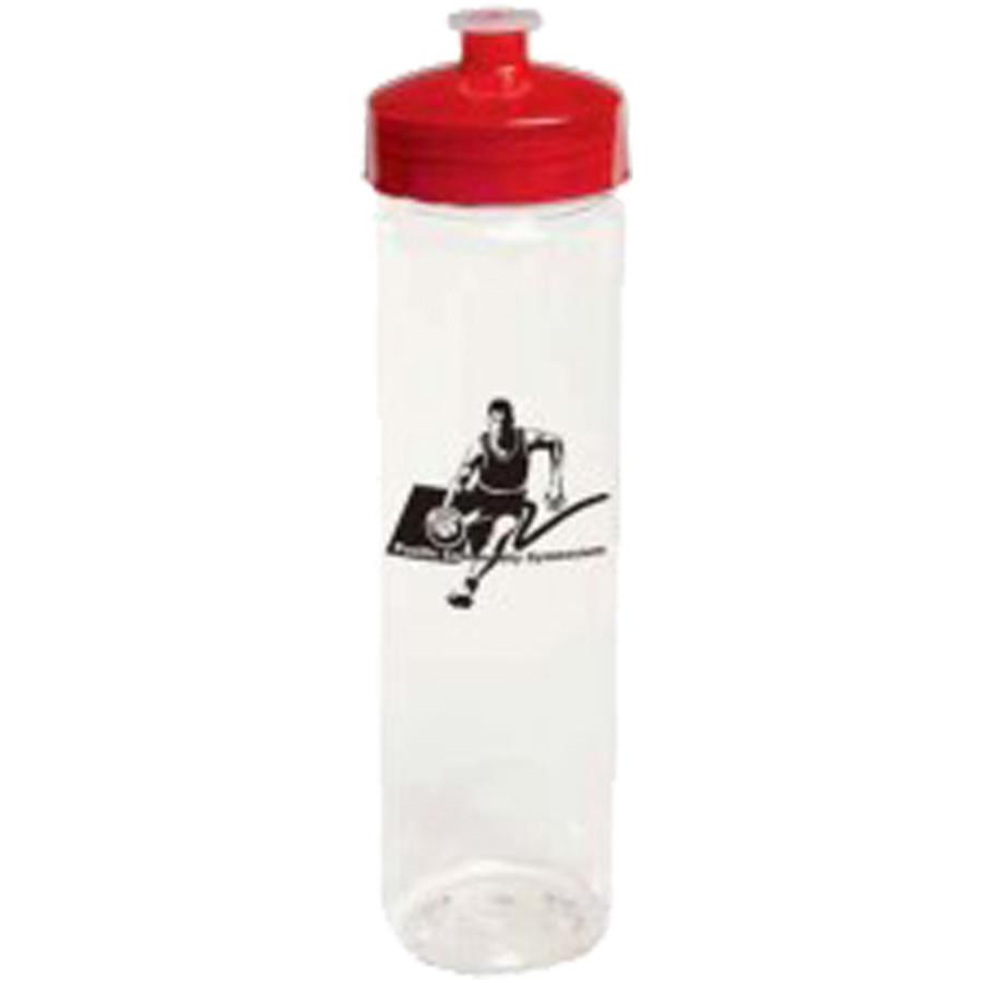Printed 24 oz. PolySure Clear Refresh Bottle