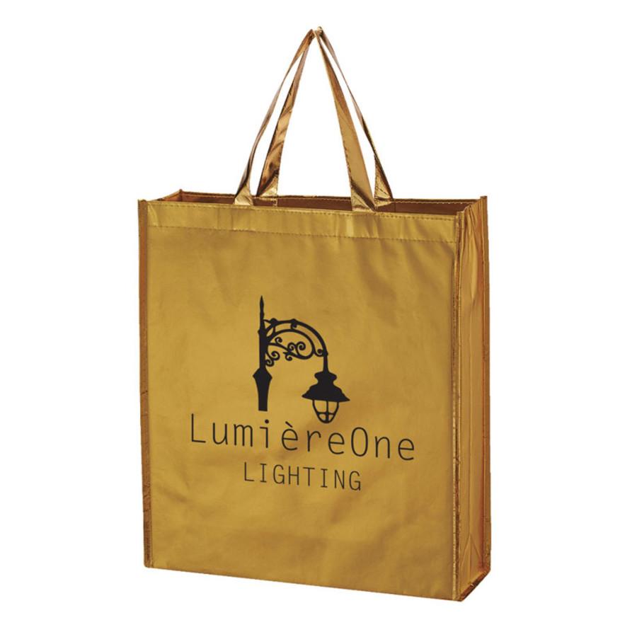 Promotional Metallic Non-Woven Shopper Tote Bag