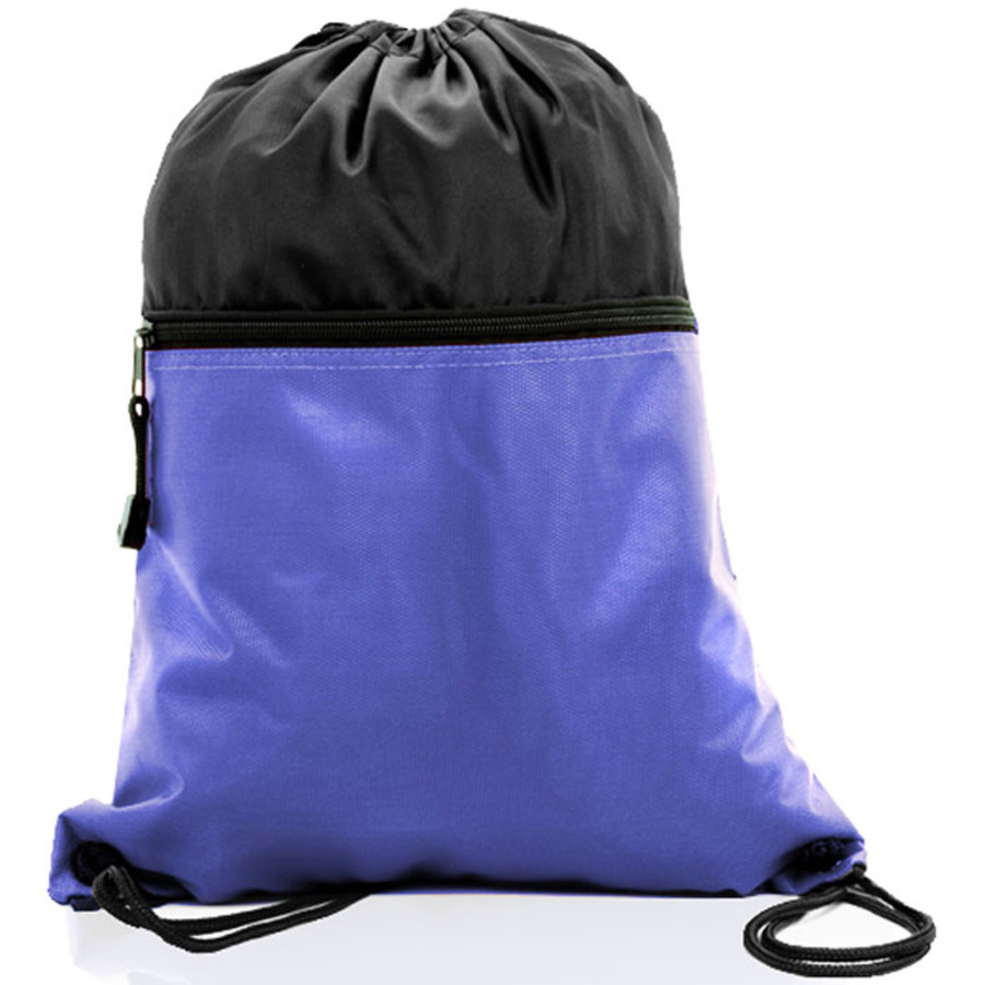 Two Tone Economy Drawstring Bag