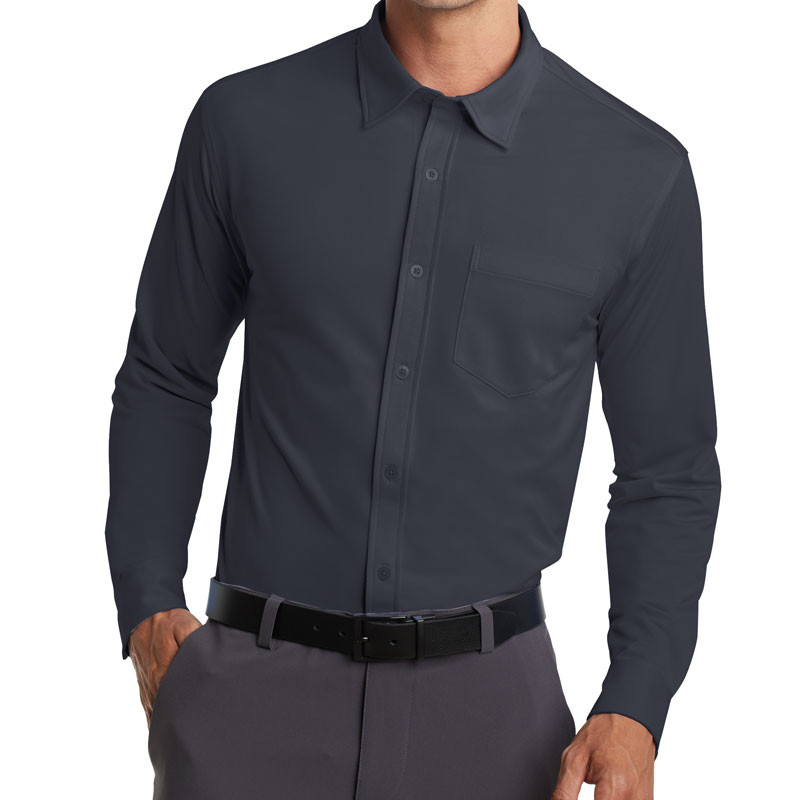 Port Authority Dimension Knit Dress Shirt (Apparel)