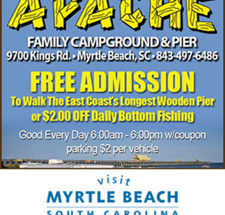 Apache Family Campground & Pier - Free Admission or $2 off Daily Bottom Fishing