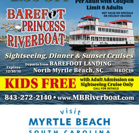 Barefoot Princess Riverboat - $2.50 Off Dinner Cruise