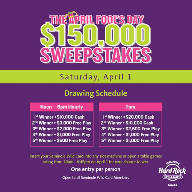 $150,000 April Fool's Day Sweepstakes