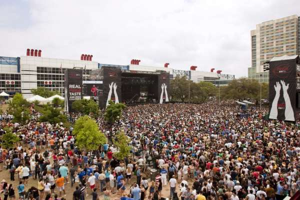Scene from the March Madness Music Festival
