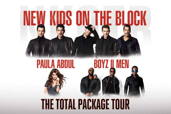 New Kids On The Block con artistas invitados Paula Abdul y Boyz II Men