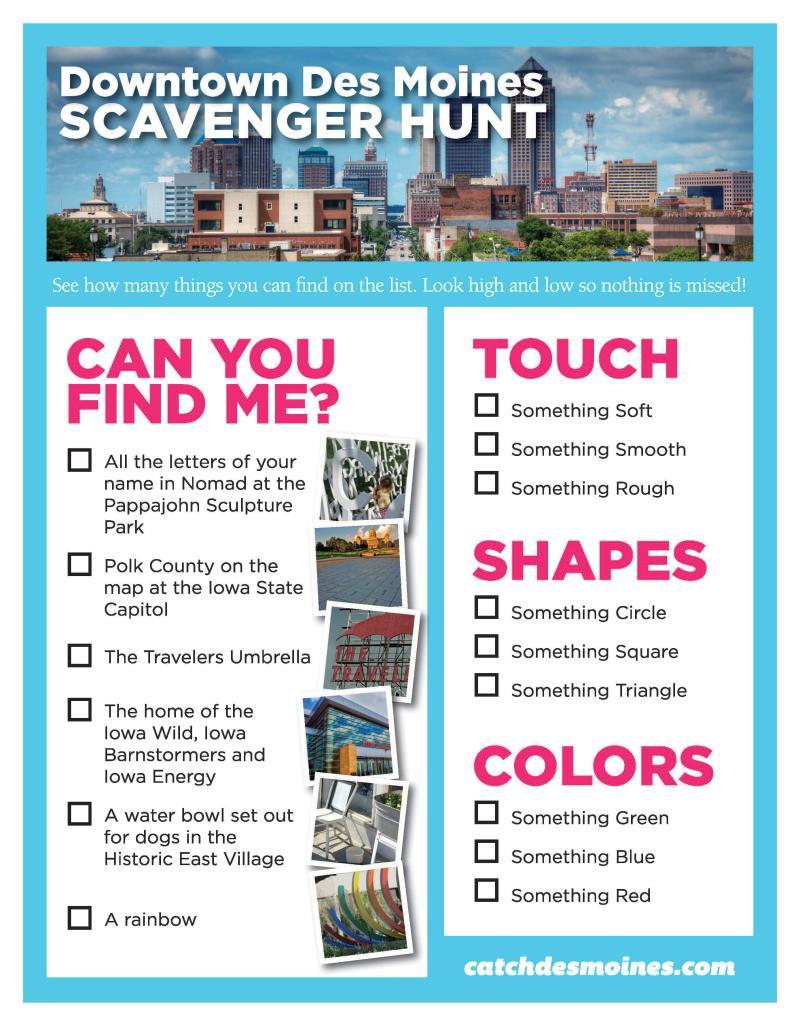 Downtown Des Moines Scavenger Hunt