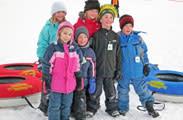 Winter tubing kids
