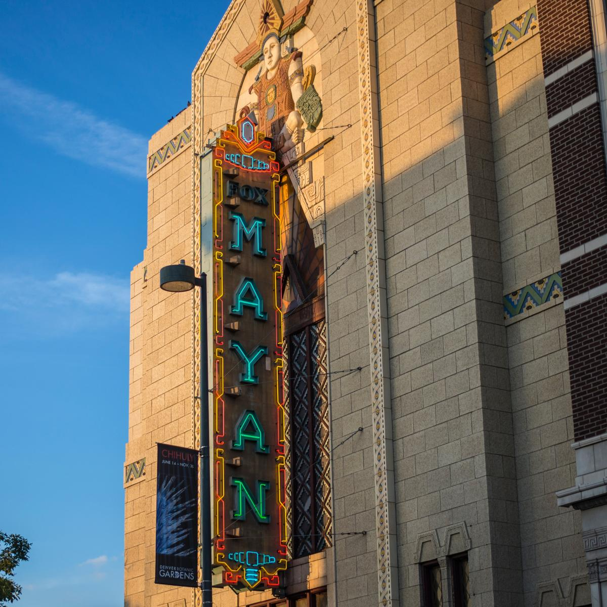 Exterior shot of the Mayan Theater