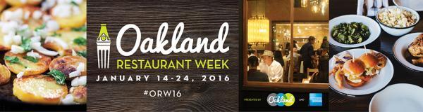 Oakland Restaurant Week 2016