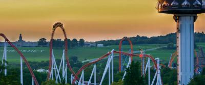 Hersheypark Skyline at Dusk