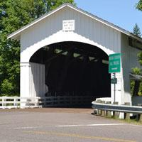Unity Covered Bridge in Lowell by Sally McAleer