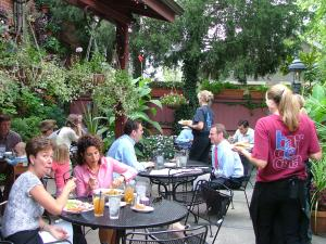 Dining on the patio at Barcelona in German Village