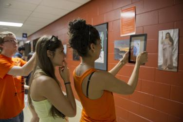 visitors look at art in new ways using technology at Imagine RIT in Rochester, NY