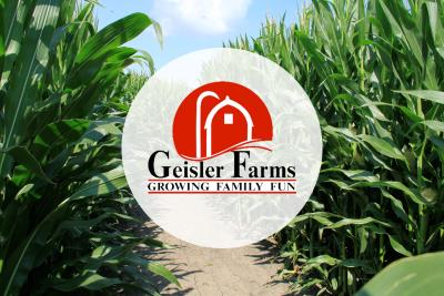 Geisler Farms Corn Maze and logo