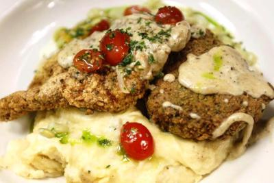 Acme Pecan encrusted chicken