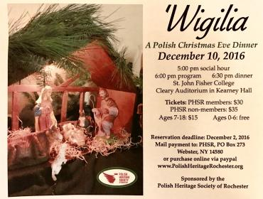 Wigilia, A Traditional Polish Christmas Eve Dinner in Rochester