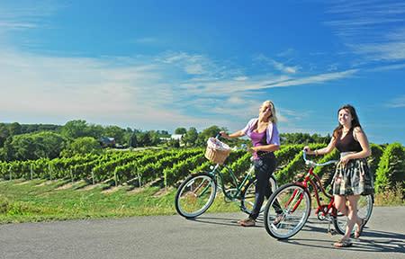 Cycling at Chateau Chantal